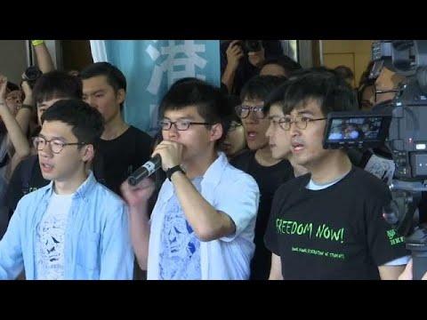 شرطة هونج كونج تفض تجمعاتٍ لمتظاهرين يرددون:-نحلم ببلد يملؤه الأمل-