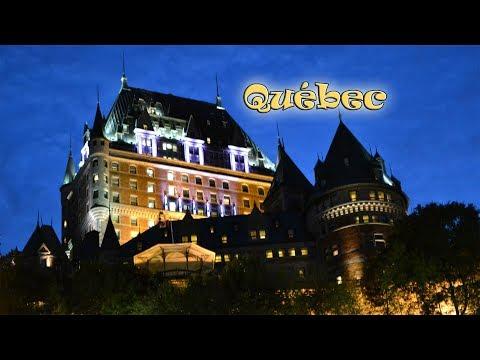 Ролик восстановлен Старинный Квебек (Québec), Le Petit Champlain, жизнь в Канаде