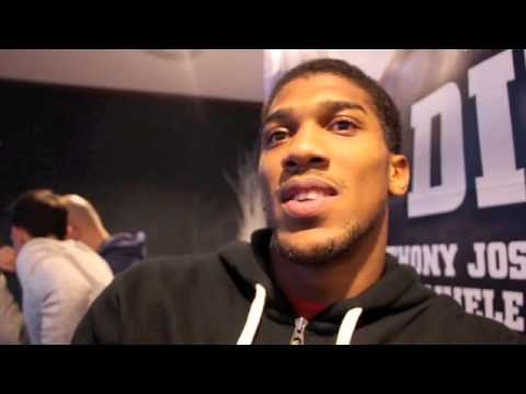 ANTHONY JOSHUA IN STUNNING FIRST ROUND KO AGAINST EMANUELE LEO - POST FIGHT INTERVIEW