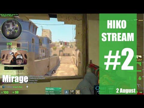 [CSGO] Hiko Stream #2 - ESEA - Mirage - Witmer, jdk, EMIL, ...