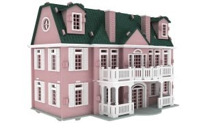 The_manor Mansion Doll House Laser Cutting Pattern Or Cnc Router Plans