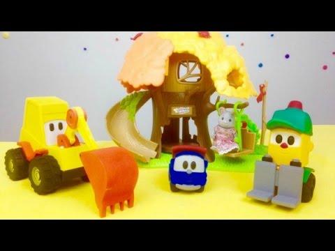 Leo Junior, Max und Lifty bauen einen Spielplatz | Tolle Spielzeugautos für Kinder in deutsch
