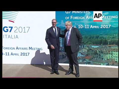 G7 foreign ministers arrive for meeting