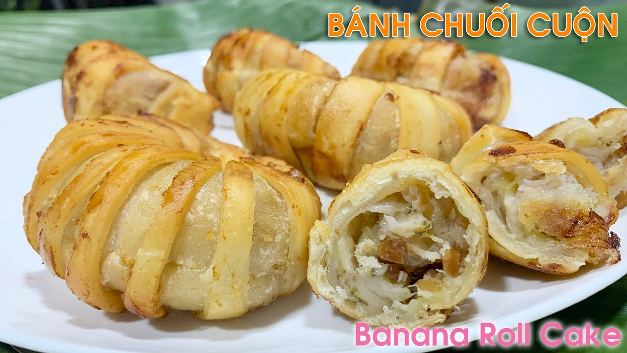 Download Bánh Chuối Chiên Giòn- Bánh chuối Cuộn Chiên Đẹp, Ngon Lạ Miệng   Banana Roll Cake