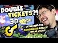 Double Ticket Tuesday! Rolling in Tickets at Gameworks Arcade in Las Vegas!