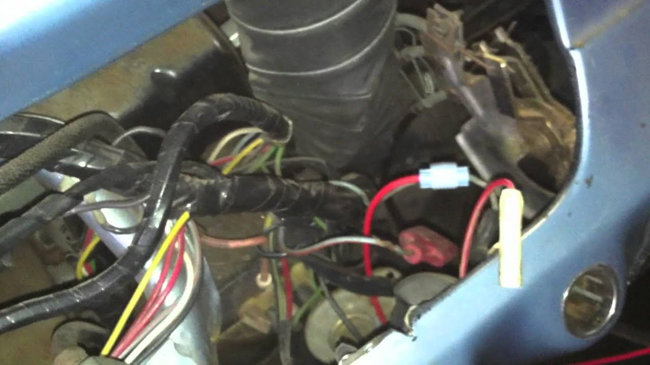 maxresdefault 1966 mustang restoration underdash wiring harness youtube 1967 Impala Dash at gsmx.co