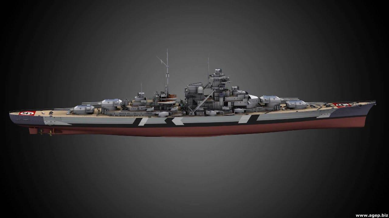KM Bismarck (3D) - YouTube