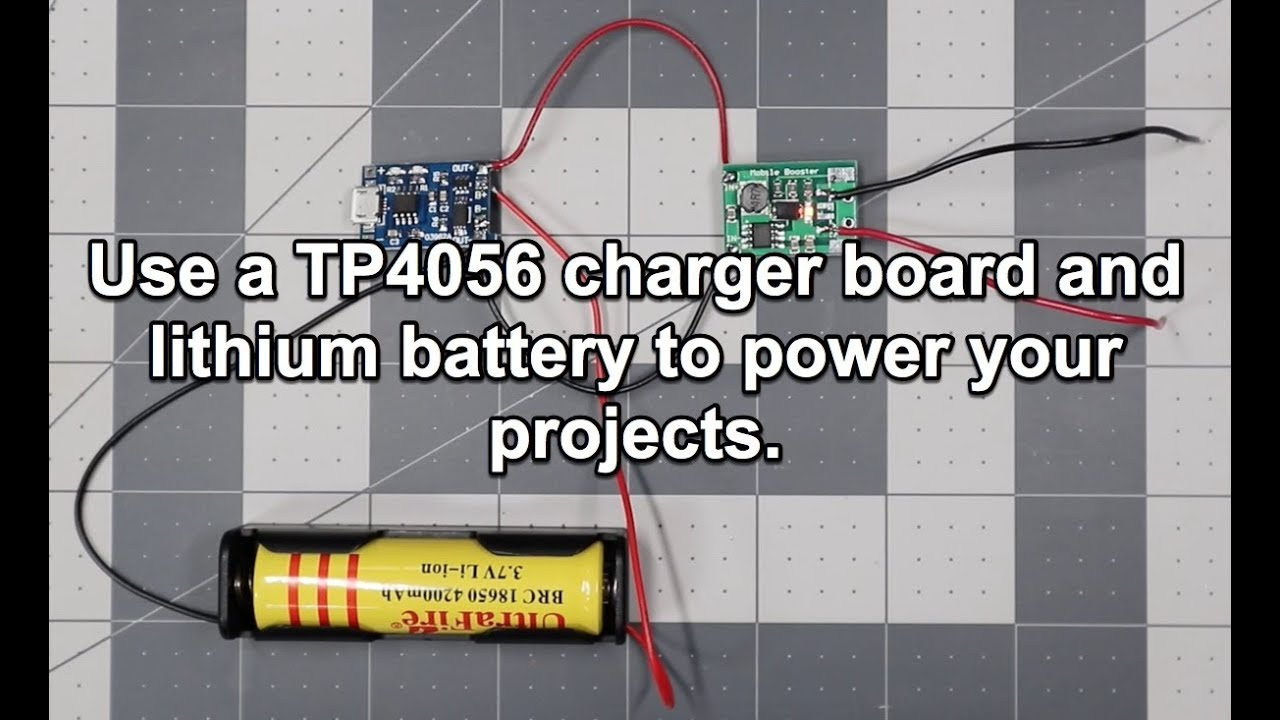 Power Your Projects With a Built-In Lithium Battery and a