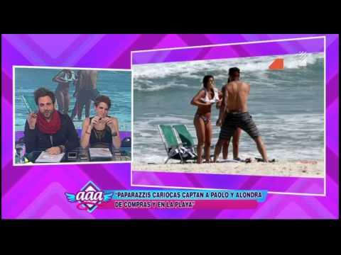 Paolo Guerrero y Alondra García Miró disfrutan de las playas de Río