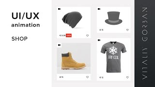 UI/UX animation web  design - shop // Hype 3 Pro Tumult