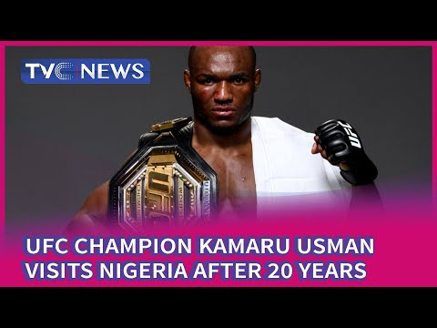 UFC Champion Kamaru Usman Visits Nigeria After 20 Years