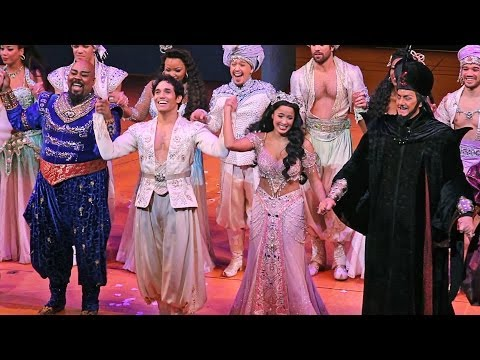 Alan Menken, Harvey Fierstein, and More Talk Wishes and Genies on Aladdin's Opening-Night Red Carpet