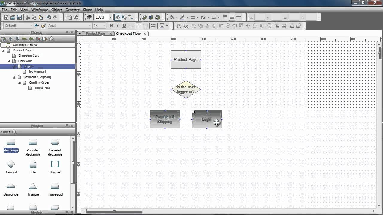 Flow Diagrams Sitemaps Axure Youtube Process Diagram In Visio