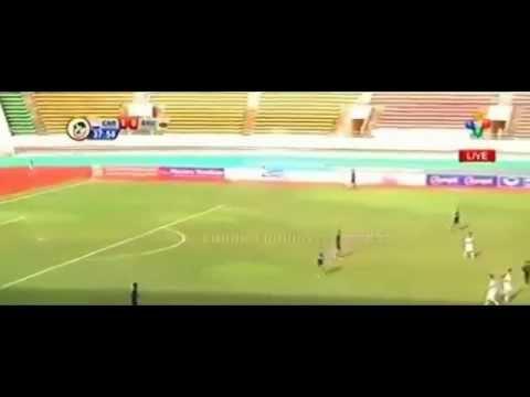 AFF U19 Champion-Cambodia Vs Brunei Football 24 August 2015 (5 - 1)