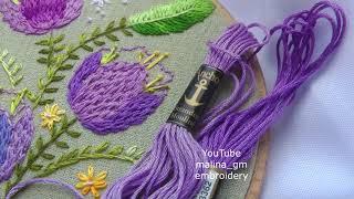Вышивка для домашнего декора: тюльпаны