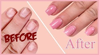How to Fix Short Bitten Nails with Acrylic Powder | Easy tutorial