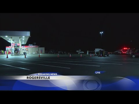 Truck damages gas pump, causes large fuel spill at Rogersville station
