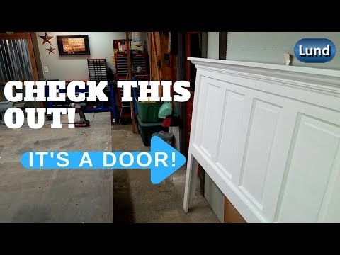 Beautiful DIY HEADBOARD from an old wood door! Its EASY