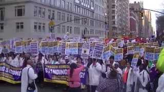 NYC Fight for 15 dollars minimum wage