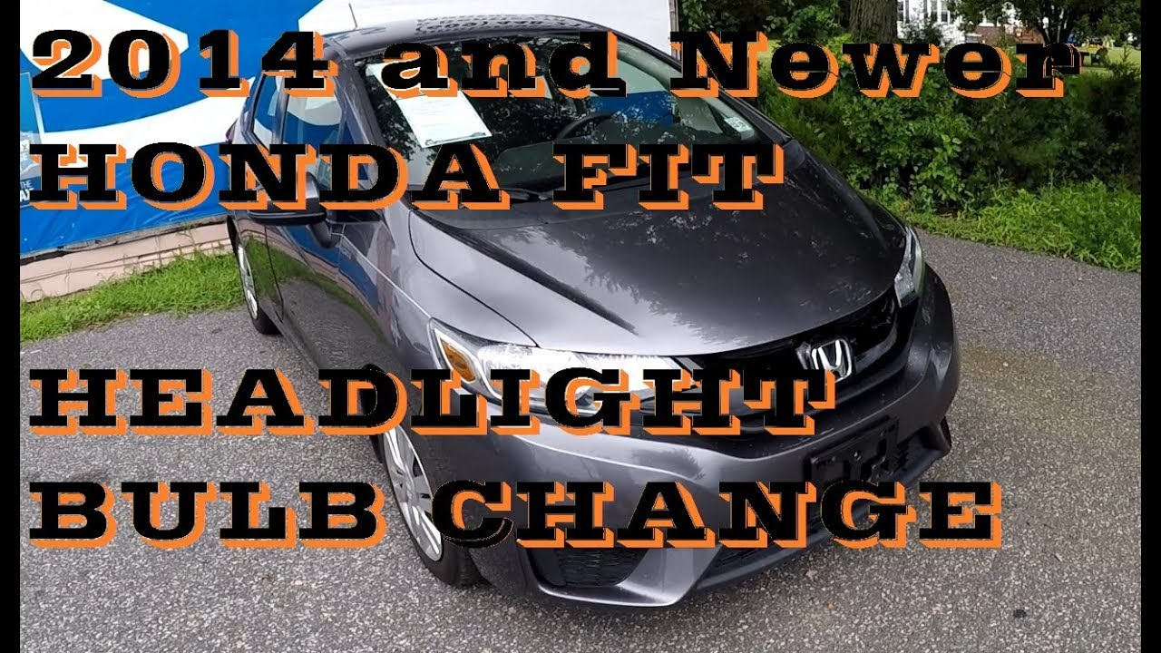 How To Replace Change Headlight Bulb In Honda Fit 2017 And Up