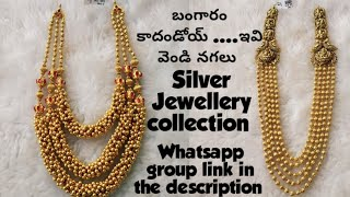 #silver jewellery collection with whatsapp group link for more collection 👇
