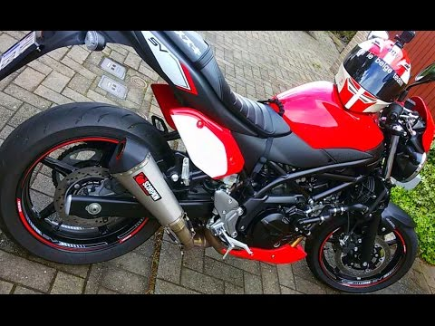 suzuki sv 650 2017 scorpion exhaust youtube. Black Bedroom Furniture Sets. Home Design Ideas