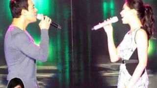 Sarah Geronimo and Erik Santos duet - Hanggang Ngayon OFFCAM (10Jul11)