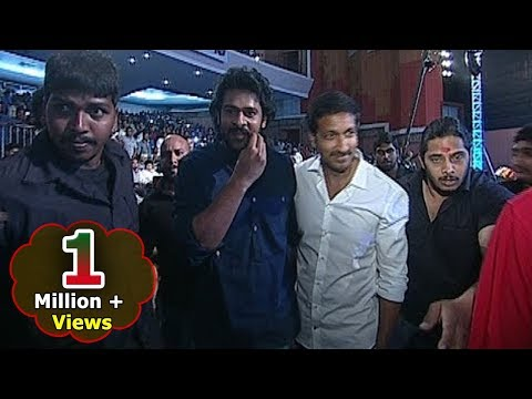 Thumbnail: Handsome Hunk Prabhas Grand Entry with Mustache twirling at Jil Audio Launch