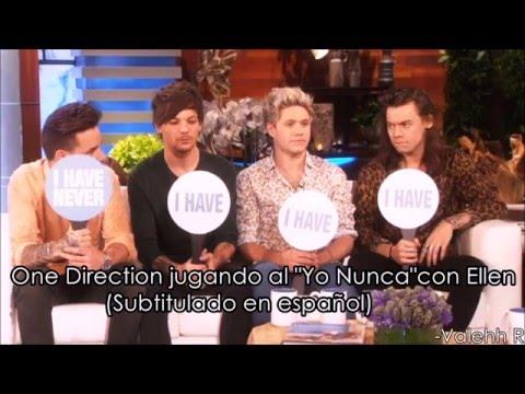 """One Direction jugando al """"Yo Nunca"""" con Ellen (Subtitulado en español)"""