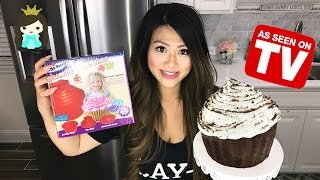 Jumbo Giant Cupcake- Does this thing really work? | Huge Girl Scout Cookie Cake