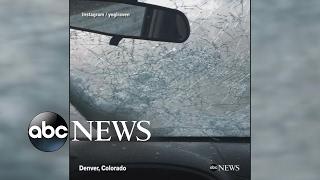 Hail ravages parts of Denver