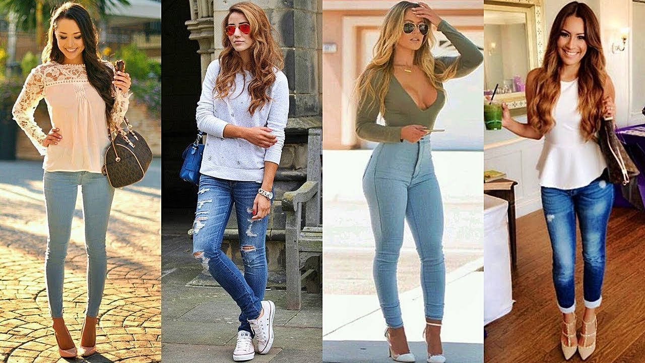 outfits con jeans moda 2018 pantalones para chicas cool