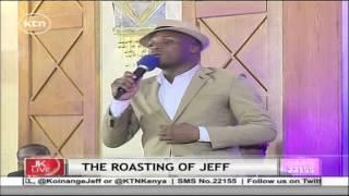 Comedian Jalango roasts Jeff Koinange on his own show