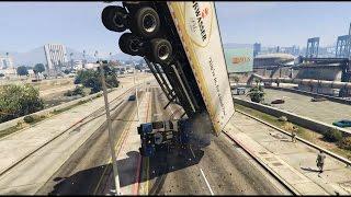 "GTA 5 - ""Semi truck stunt"" failed attempts + more thumbnail"