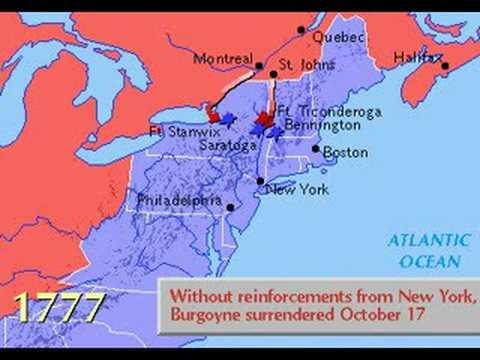 American Revolution 1775 Map