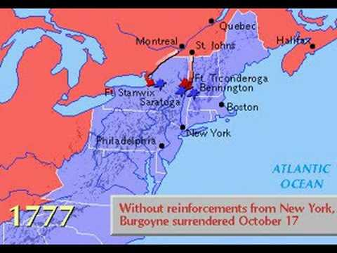 Map of the American Revolution (1775-1783) | CosmoLearning History