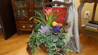 Spring 2016 FREE-I-Y Collab | Antique Chair Planter