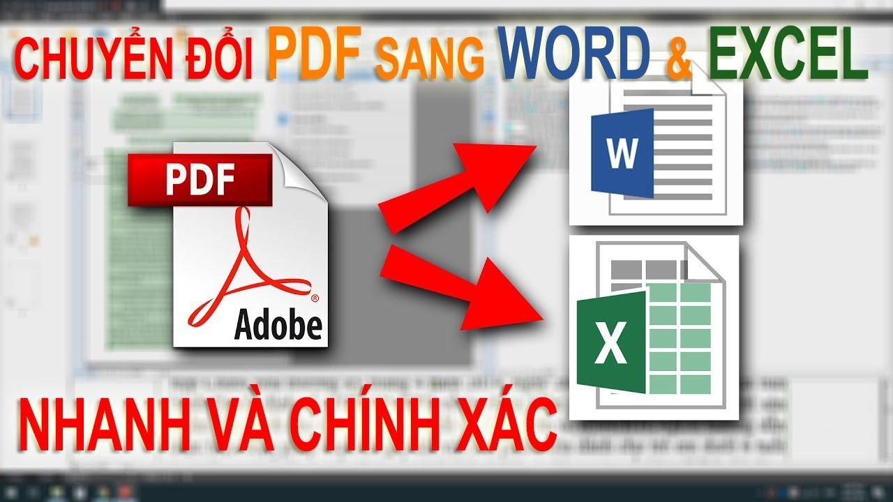 Cách Chuyển Đổi PDF Sang Word Excel Nhanh Và Chính Xác |How To Convert PDF To Word Excel Very Simple