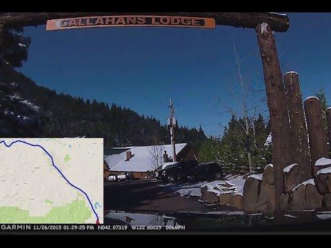 Rogue River, OR to Callahan's Lodge on Mt. Ashland via I-5 Full Drive w/Map Overlay