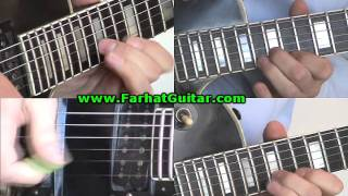 Fade to Black Metallica Guitar Lesson part 1.2 www.Farhatguitar.com