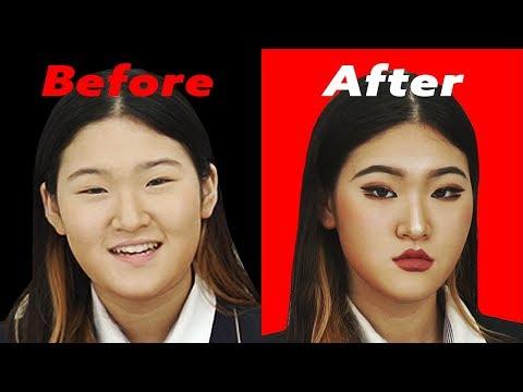 Korean Teenagers Tries Western Style Makeup!!!