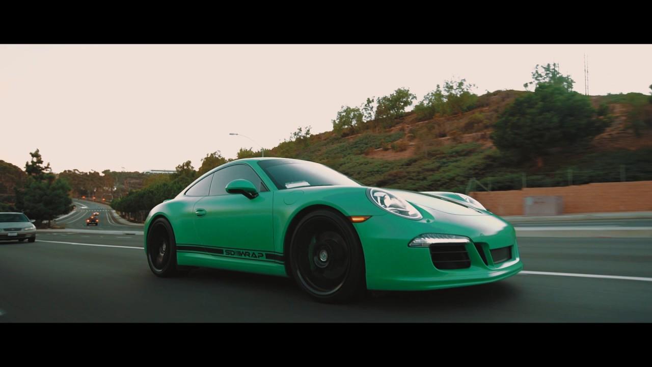 SD Wrap Satin Signal Green Porsche 911 Carrera S (991) - YouTube