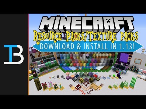 How To Download & Install Resource Packs/Texture Packs in Minecraft 1.13