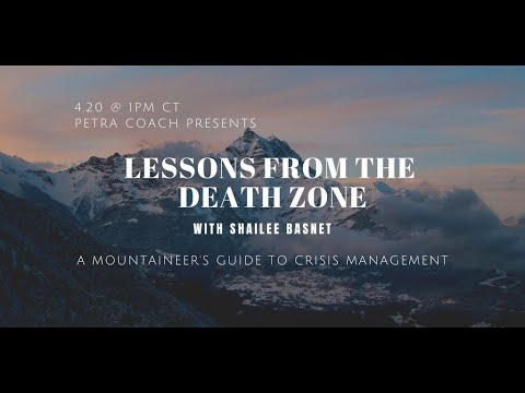 """Petra Coach Presents, """"Lessons from the Death Zone with Shailee Basnet: A Mountaineer's Guide to..."""