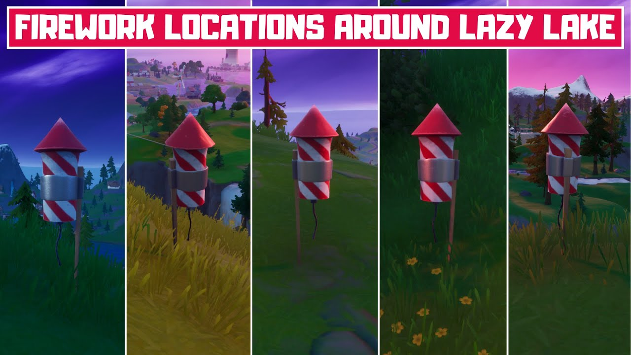 Set Off Fireworks Around Lazy Lake Locations in Fortnite Chapter 2 Season 3! - Quick Challenges