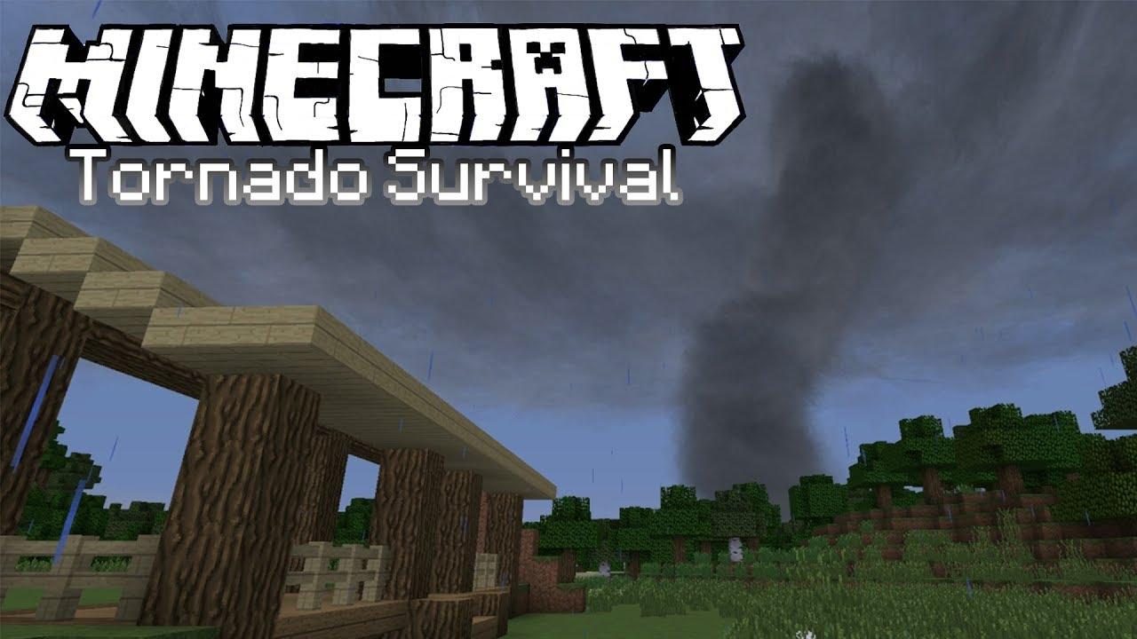 Minecraft Tornado Survival (Localized Weather Mod) S5E1: Storm