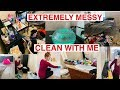 EXTREMELY MESSY CLEAN WITH ME//CLEANING MY BEDROOM & BATHROOM//REAL LIFE MESS//Stephanie McQueen