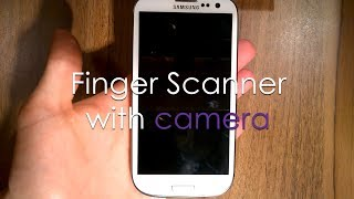 Finger Scanner with camera - Android app