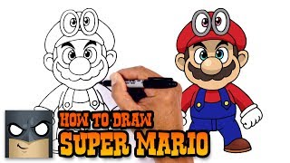 How to Draw Super Mario | Super Mario Odyssey