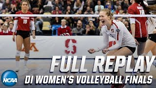 Stanford vs. Wisconsin: 2019 NCAA women's volleyball national championship | FULL REPLAY